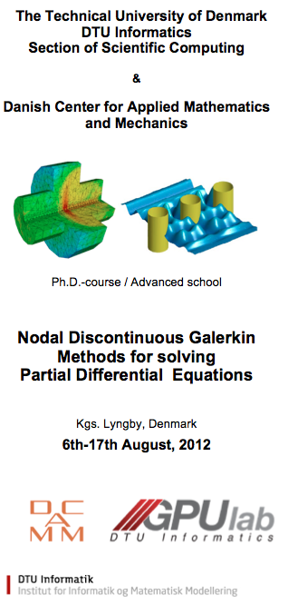 Ph D  Course on Nodal Discontinuous Galerkin Methods for solving